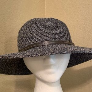Beautiful Blue/Grey Sun-Floppy Hat O/S
